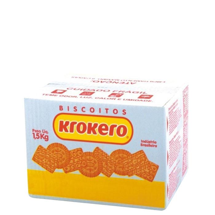 Biscoito Sortido Krokero Leite 1,5 Kg