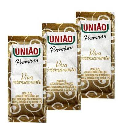 Sachet  Açúcar Premium União - Caixa com 400 unidades de 5grs