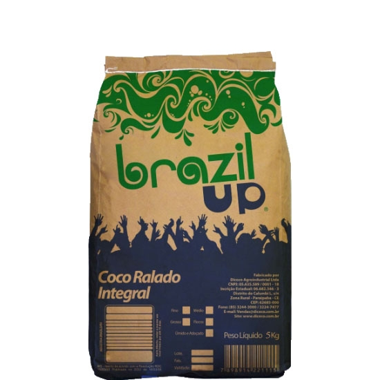 Coco Ralado Médio 5kg Brazil Up
