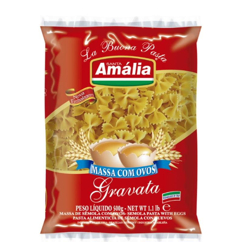Macarrão c/ Ovos Gravata Santa Amália - Fardo 20 uni. de 500grs