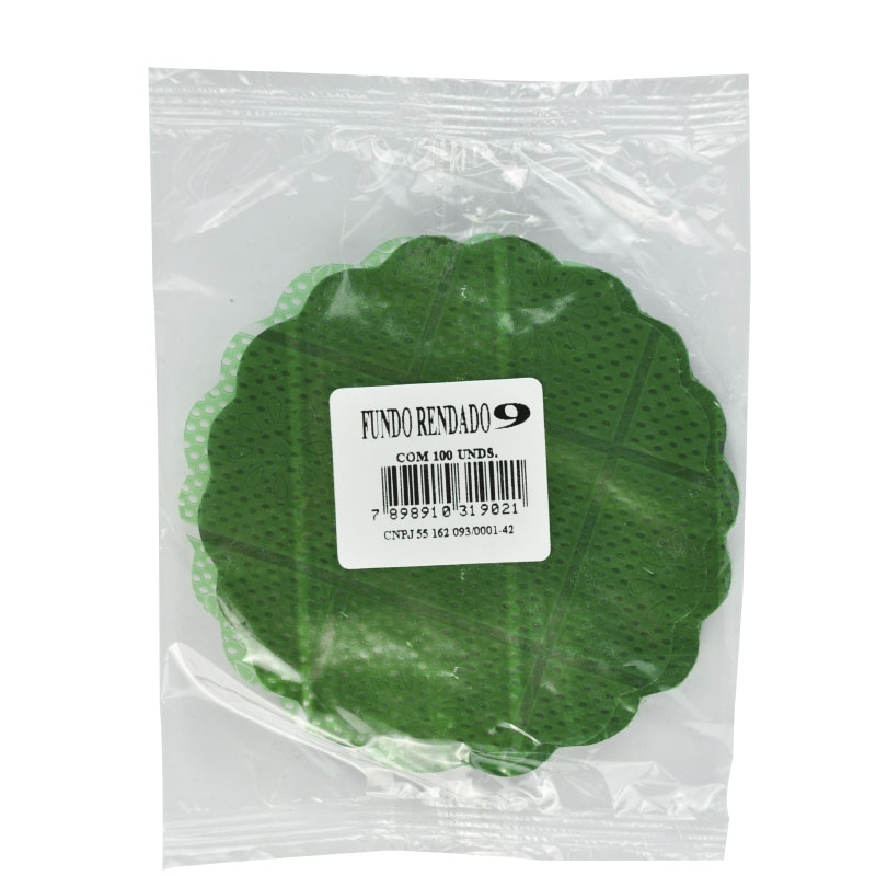 Renda Celofane n° 09 Verde Escuro 100 uni.