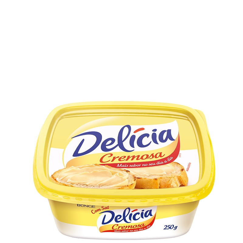 Margarina Delícia com Sal 250grs - 24 uni.