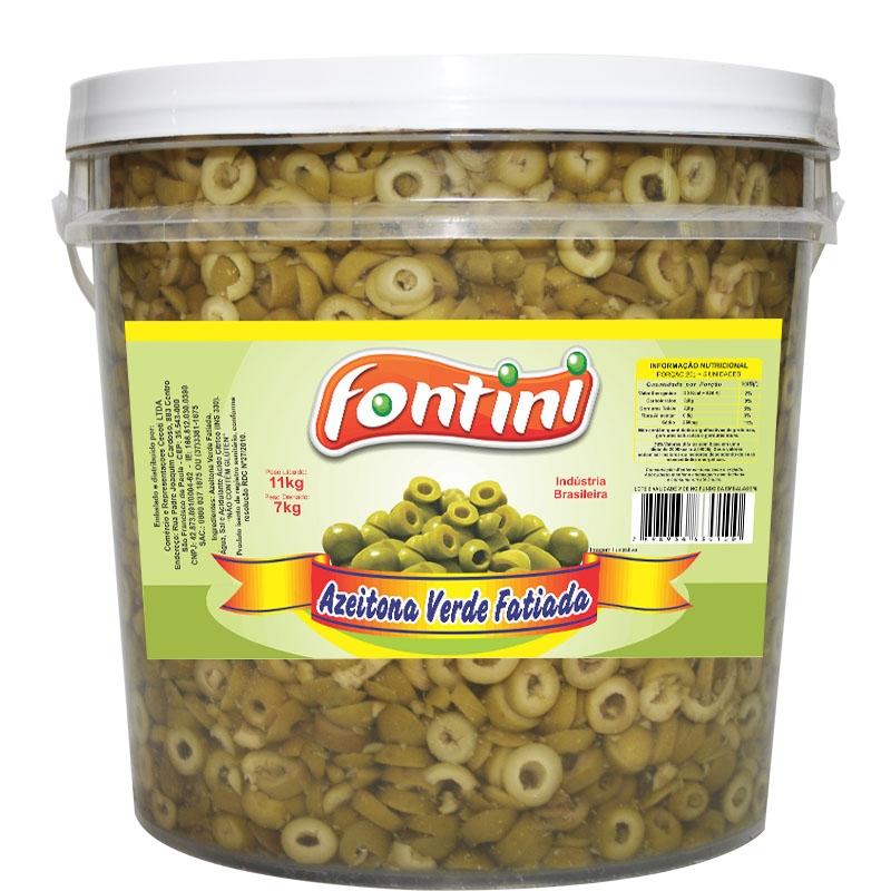 Azeitona Verde Fatiada Fontini 7 Kg