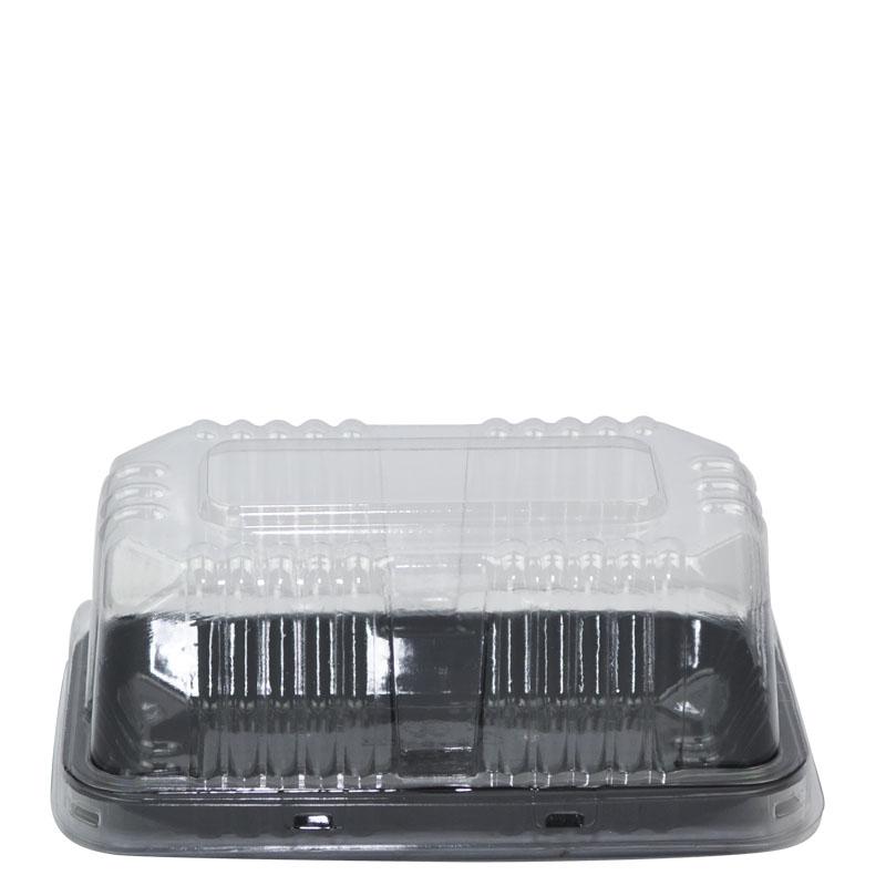 Embalagem Pvc G 62 Torta Fatia Bolo Preta