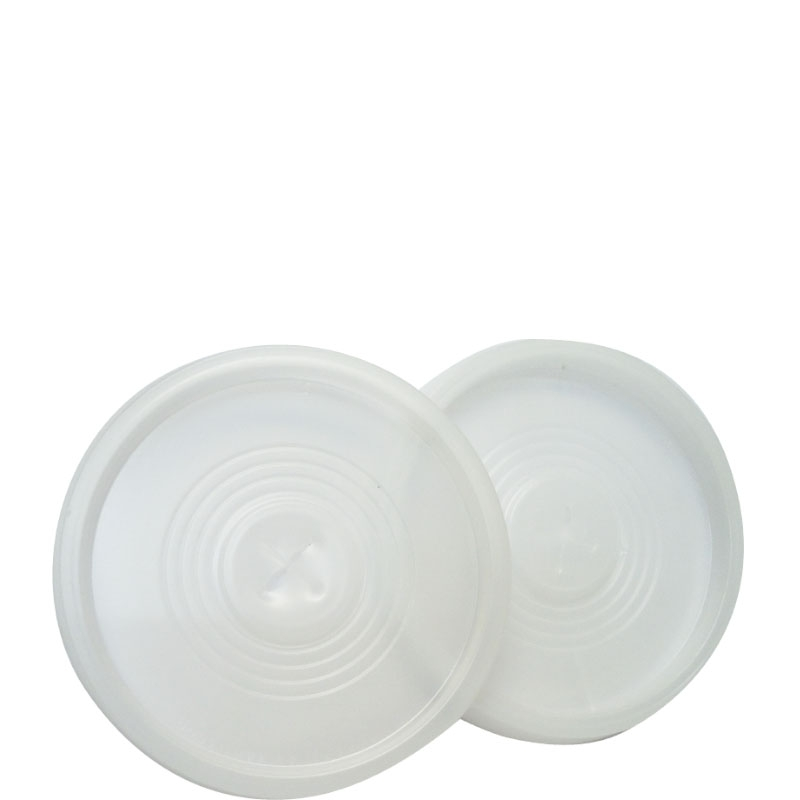 Tampa de Plástico Furada TC-330 p/ Milk Shake - Pacote 50 uni.