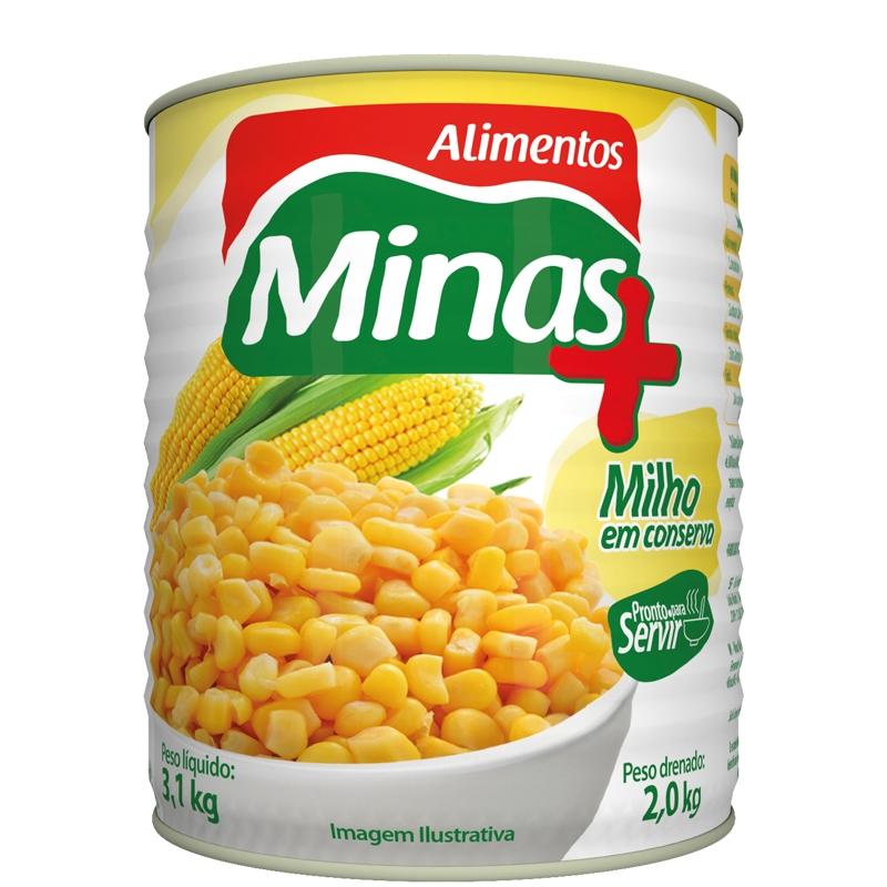 Milho Verde Minas Mais Lata 2 Kg