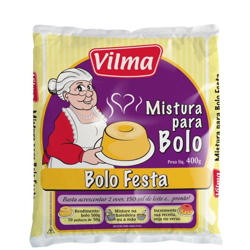 Mistura para Bolo Vilma Festa - Fardo 12 uni. de 400grs