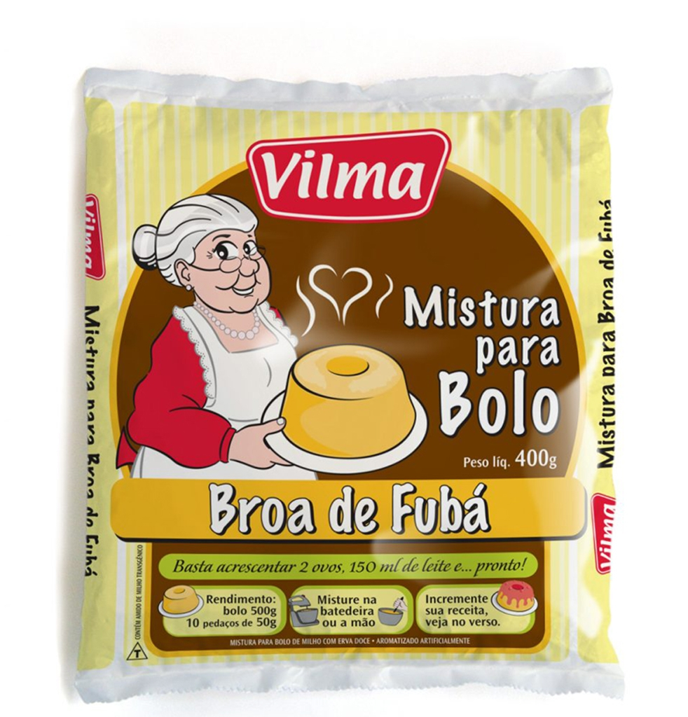 Mistura para Bolo Vilma Sabor Broa de Fubá - Fardo 12 uni. de 400grs