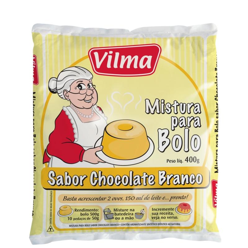 Mistura para Bolo Vilma Sabor Chocolate Branco - Fardo 12 uni. de 400grs