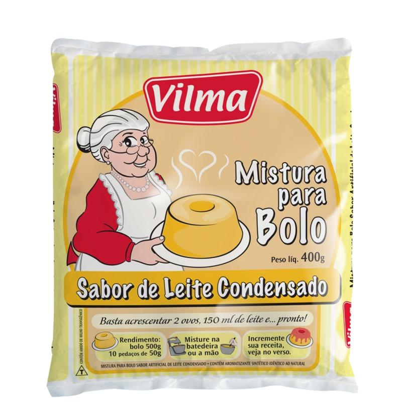 Mistura para Bolo Vilma Sabor Leite Condensado - Fardo 12 uni. de 400grs
