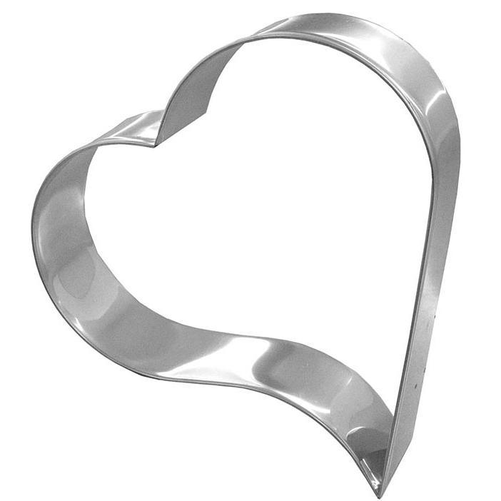 Aro de Corte Inox em Formato de Coração DP 9350 - 28x5 cm