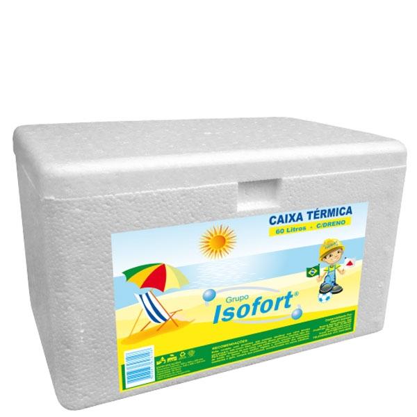 Caixa Térmica Isopor Isofort 60 L Dreno