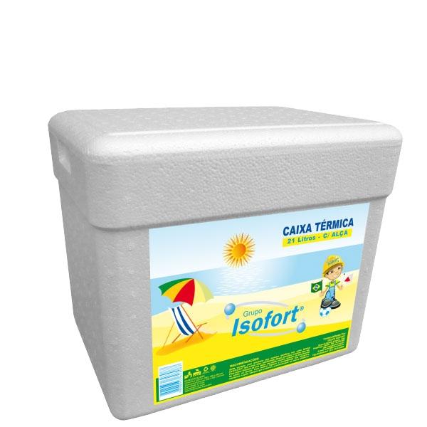 Caixa Térmica Isopor Isofort 21 L c/ Alça