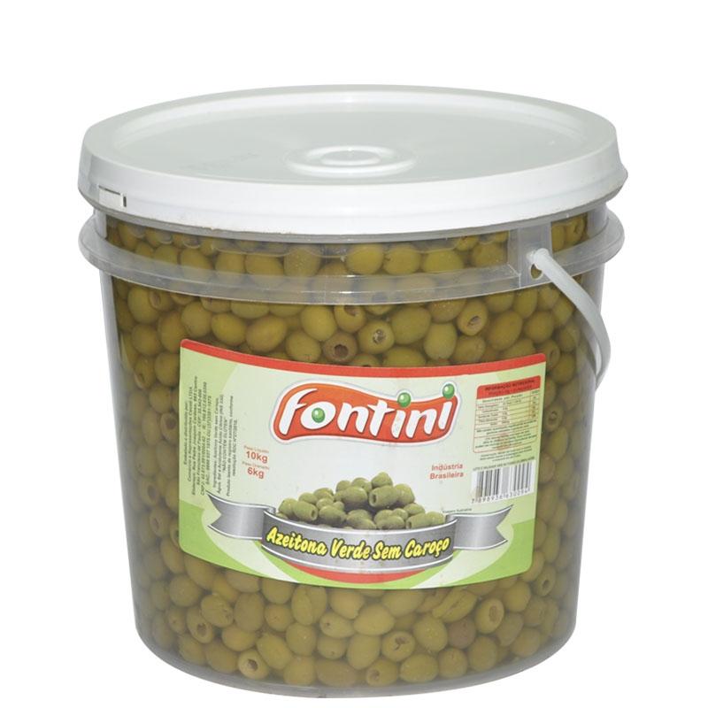 Azeitona Verde s/ Caroço Fontini 6 Kg