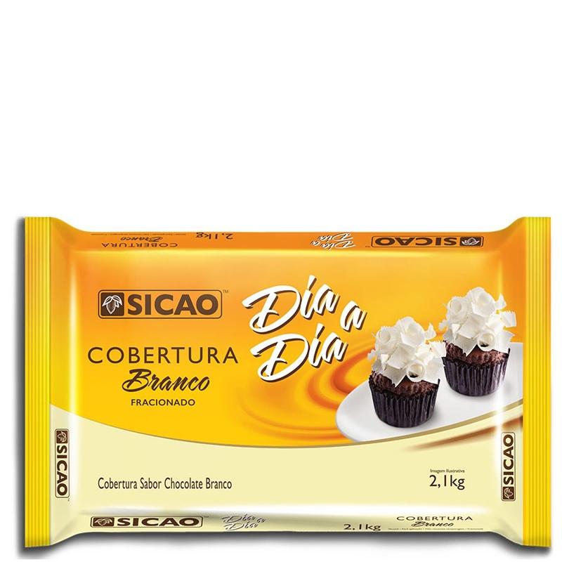 Barra de Chocolate Dia a Dia Branco Sicao - 2,1kg