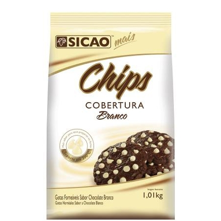 Gotas Chips Chocolate Branco Sicao - 1,01 kg