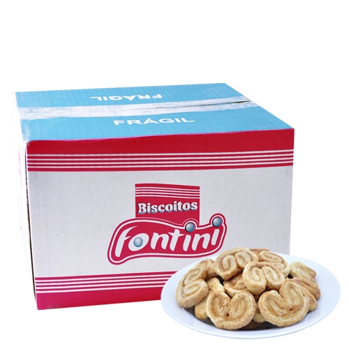 Biscoitos Amanteigados Palmier Fontini 2 Kg