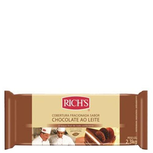 Barra de Chocolate ao Leite Rich's 2,3Kg