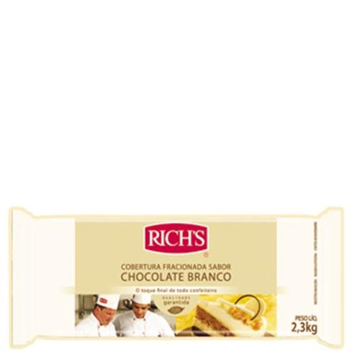Barra de Chocolate Branco Rich's 2,3Kg