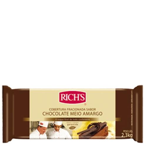 Barra de Chocolate Meio Amargo Rich's 2,3Kg