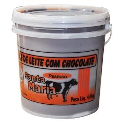 DOCE DE LEITE COM CHOCOLATE SANTA MARIA 4,6 KG