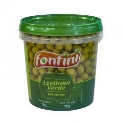 Azeitona Verde s/ Caroço Fontini 2 Kg