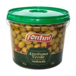 Azeitona Verde Recheada Fontini 2 Kg