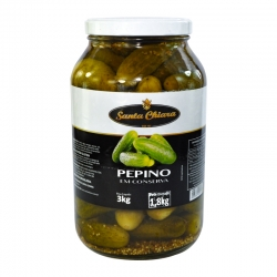 Pepino Médio em conserva Vidro 1,8kg
