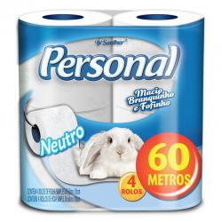 PAPEL HIGIÊNICO PERSONAL 60 METROS FS 4 UND