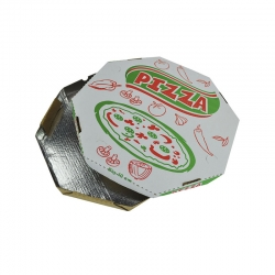CAIXA PIZZA ALUM OITAVADA 45 CM C/25 UND