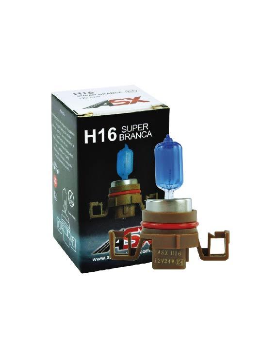 LÂMPADA H16 SUPER BRANCA 24W 12V | ASX Produtos