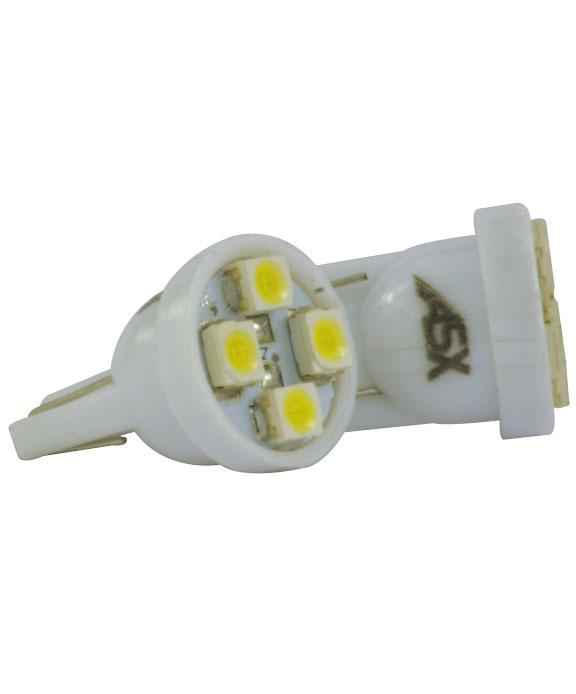 T10 4 LEDS BRANCO 12V | ASX Produtos