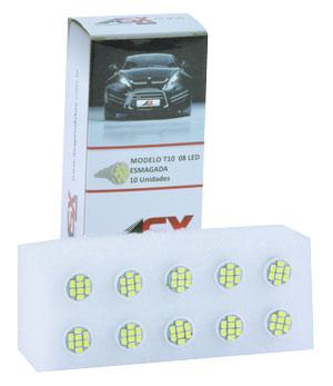 T10 8 LEDS 12V   ASX Produtos