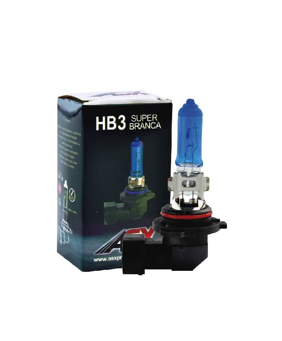 LÂMPADA HB3 (9005) SUPER BRANCA 55W | ASX Produtos