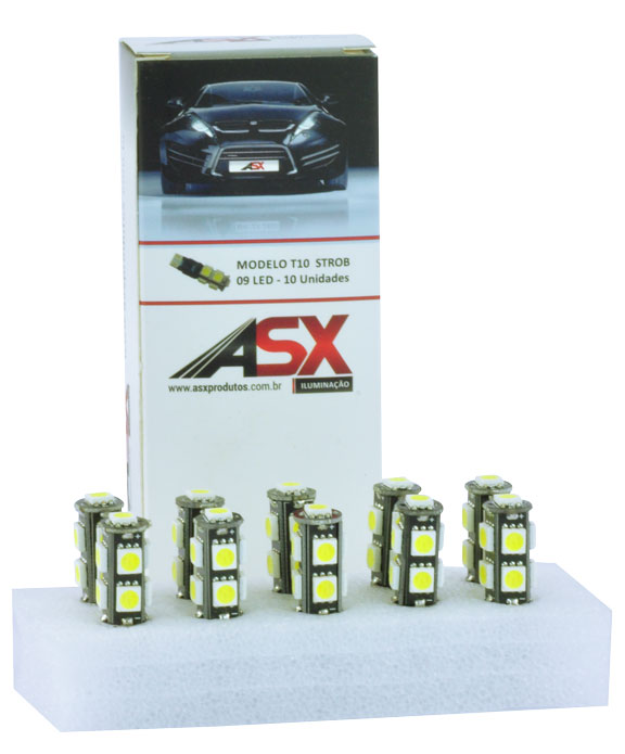 T10 9 LEDS 5050 STROBE 12V | ASX Produtos