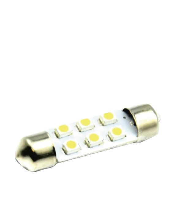 TORPEDO 6 LEDS 36MM 12V | ASX Produtos