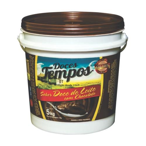 Doce de Leite c/ Chocolate Tempos - Balde 5kg