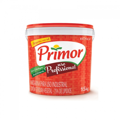 Margarina Primor 75% Lipídeos 15 Kg