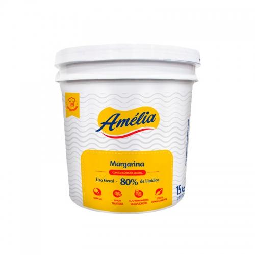 Margarina Amélia 80% Lipídeos 15 Kg