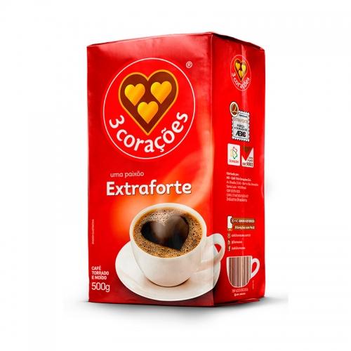 Café 3 Corações Extra Forte - 10 uni. de 500grs