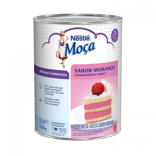 Cobertura e Recheio de Morango Nestlé 2,6kg