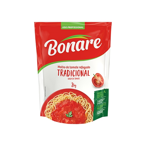 Molho Tomate Tradicional Bonare - Pouch 2kg