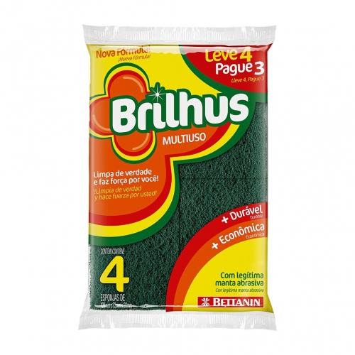 Esponja Brilhus Multiuso 4 uni.