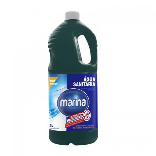 Água Sanitária Marina - Caixa com 6 unidades de 1L