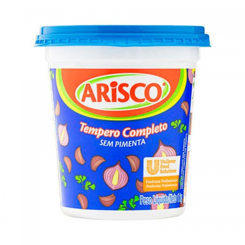 Tempero Completo sem Pimenta 1kg Arisco