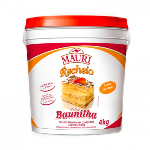 RECHEIO FORNEÁVEL BAUNILHA MAURI 4 KG