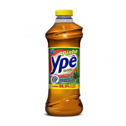 Desinfetante Pinho Ypê Tradicional - Caixa com 12 unidades de 500ml