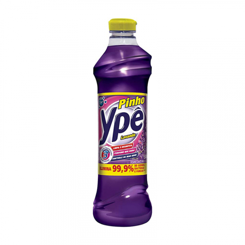 Desinfetante Pinho Ypê Lavanda - Caixa com 12 unidades de 500ml