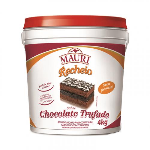 RECHEIO FORNEÁVEL CHOCOLATE TRUFADO MAURI 4 KG