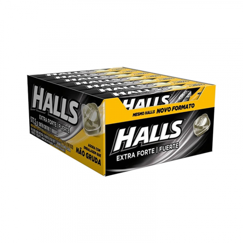 Drops Halls Extra Forte - caixa com 21 uni.